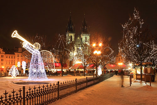 Новый год с ребенком в Праге