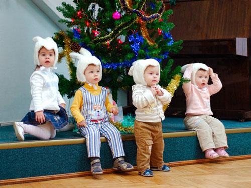 Маленькая сценка для детей на новый год дома
