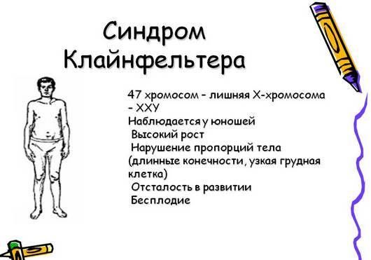 Синдром Клайнфельтера симптомы