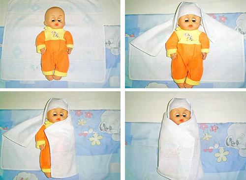 Как правильно запеленать новорождённого с головой