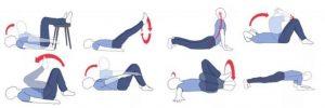упражнения от растяжек