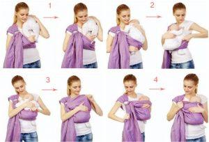 схема ношения слинга